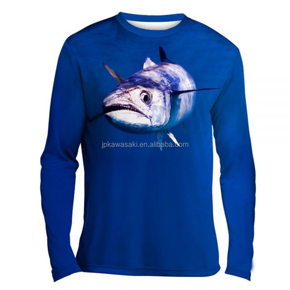 China Sublimation Printing Custom Any Logo Any Name  Fishing Wear  Long Sleeve  Fishing Shirt