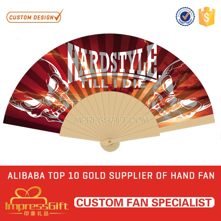 Custom design craft wooden hand fan for event