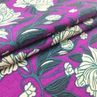 Custom printing organic bamboo fiber lycra jersey knit fabric for clothing