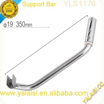 Stabilization Grade SUS304 Stainless Steel Adjustable Shower Enclosure  Support Bar Fixing To Wall And Glass Holder