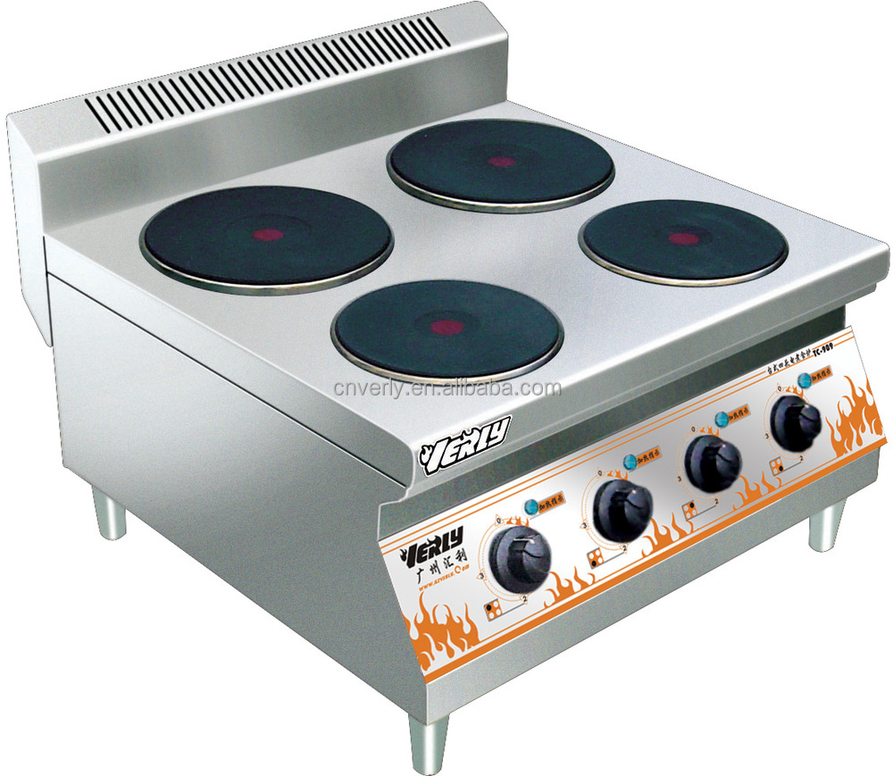 Stainless steel commercial electric table top 4 hot plate cooker TC-909