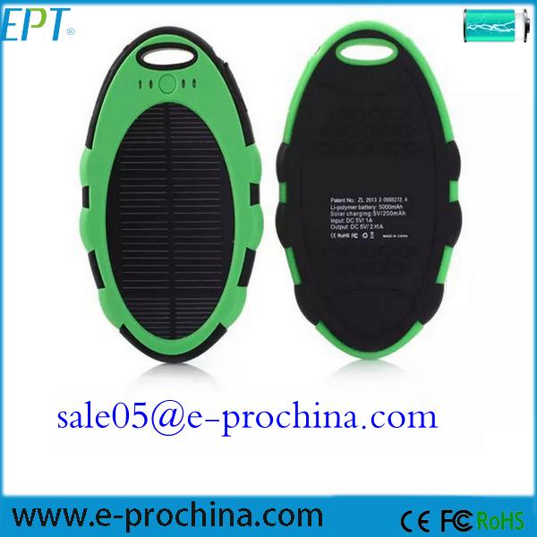 Waterproof Solar Mobile Power Bank 5000mah Cell Phone Solar ...