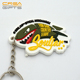 High Quality Wholesale Cheap Promotion Custom Rubber Keychain Maker