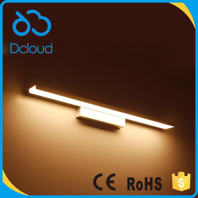 dcloud w moderna de aluminio espejo de luz led de pared para cuarto de