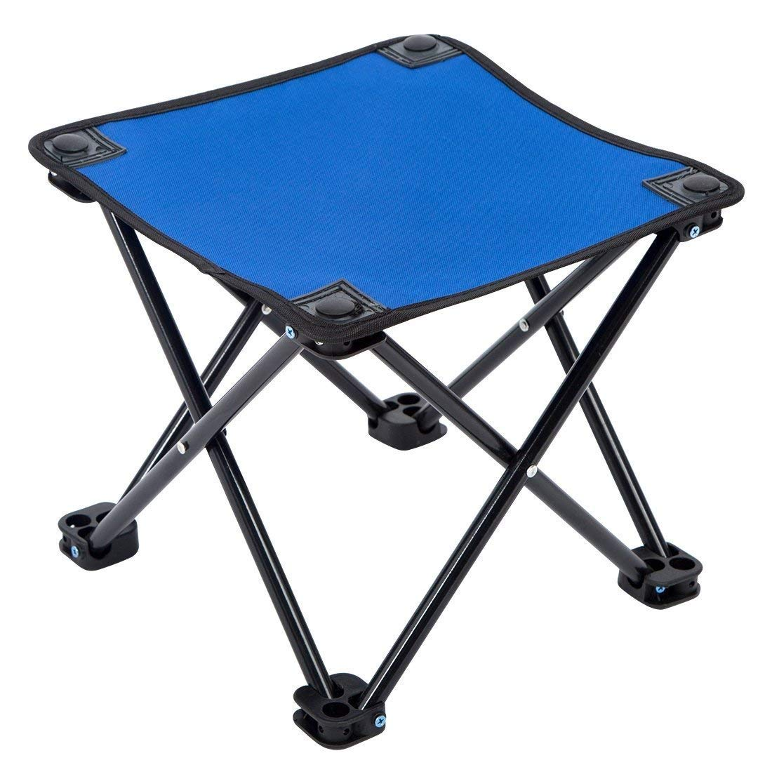 ROOKLY Mini Portable Folding Stool Slacker Chair Outdoor Folding Chair for Camping Fishing Travel Hiking Garden Beach Quickly Fold Chair Summer Oxford Cloth with Carry Bag