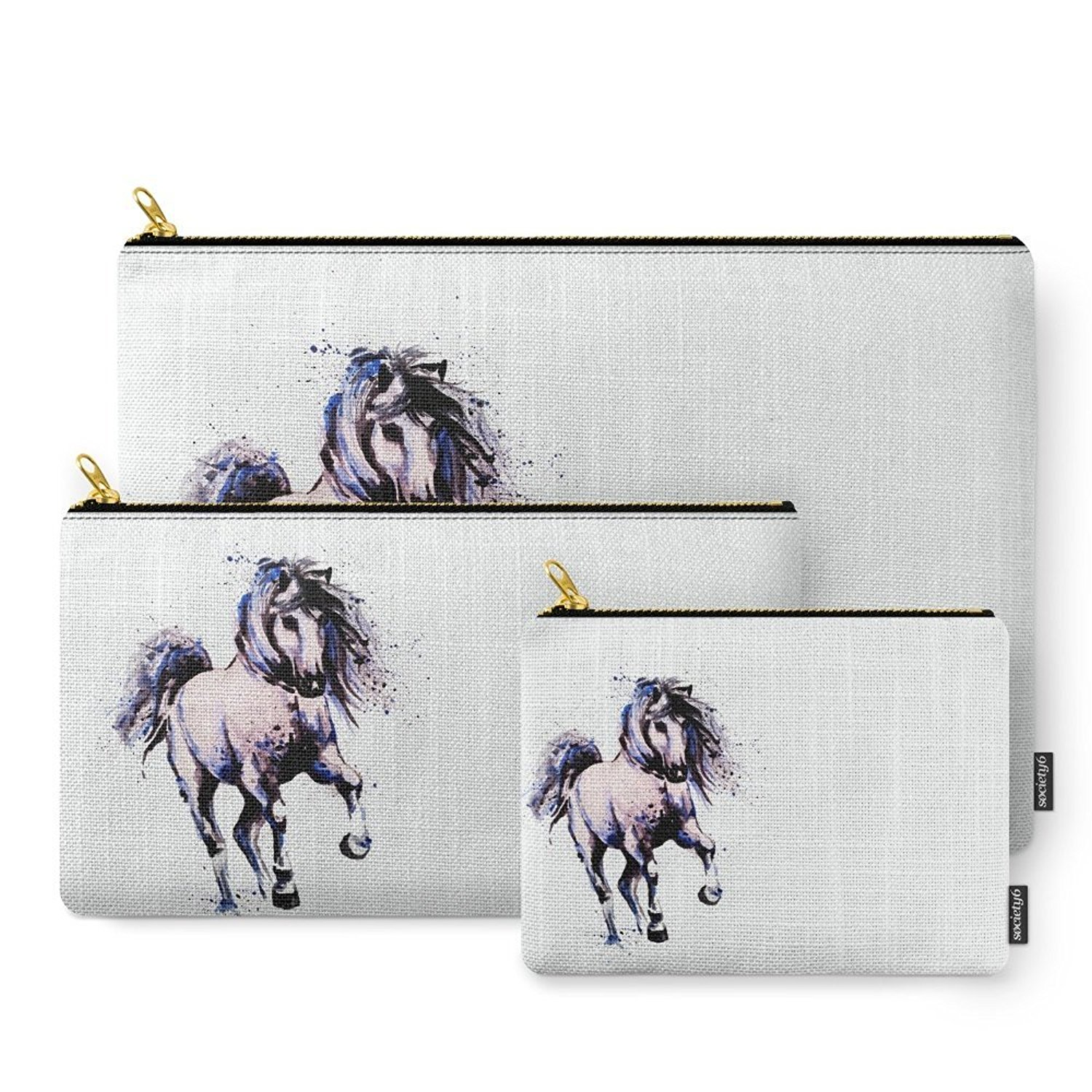 Society6 Horse 3 Carry-All Pouch