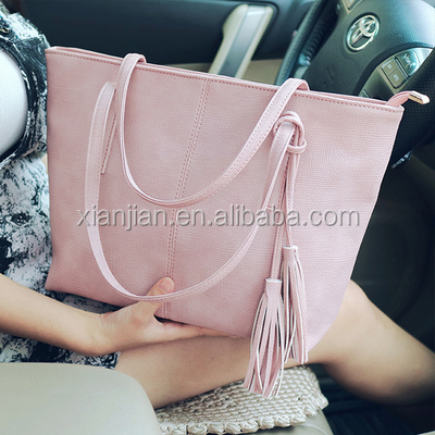 Xianjian 2017 We have own bag factory, exclusive <strong>design</strong>, tassel women lady's handbag (XJSL2143)
