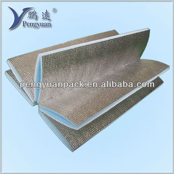 Metalized film backed foam thermal insulation cushion for Quick therm insulation cost