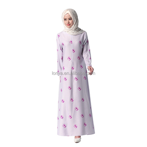 Muslim Dress Islamic Clothing Maxi Dresses Long Sleeve Abaya Kaftan for Women