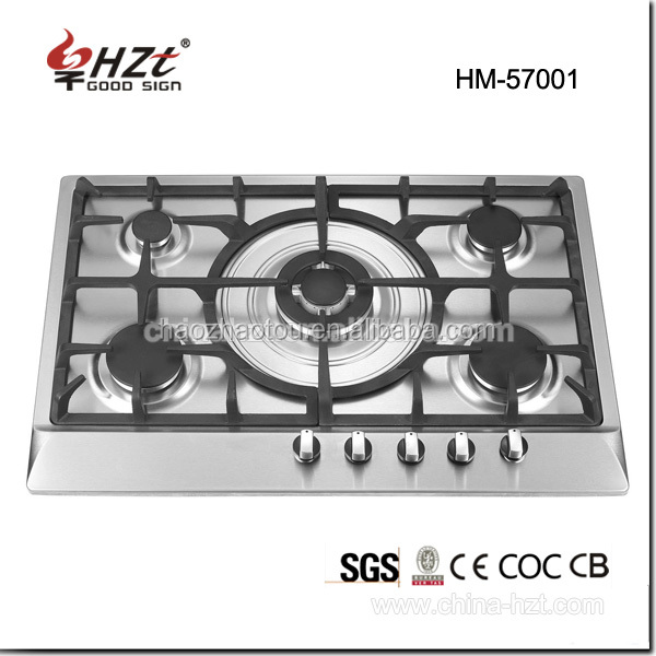 5 Burner Commercial mini gas stove prices/appliances kitchen/gas cooking range in pakistan