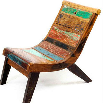 Chair Made Of Old Boat Wood Bwc30