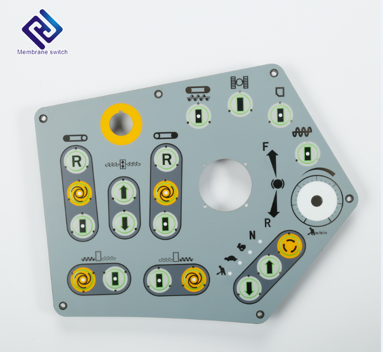 Conductive Carbon Button Polyester Keypad Tactile With Rgb