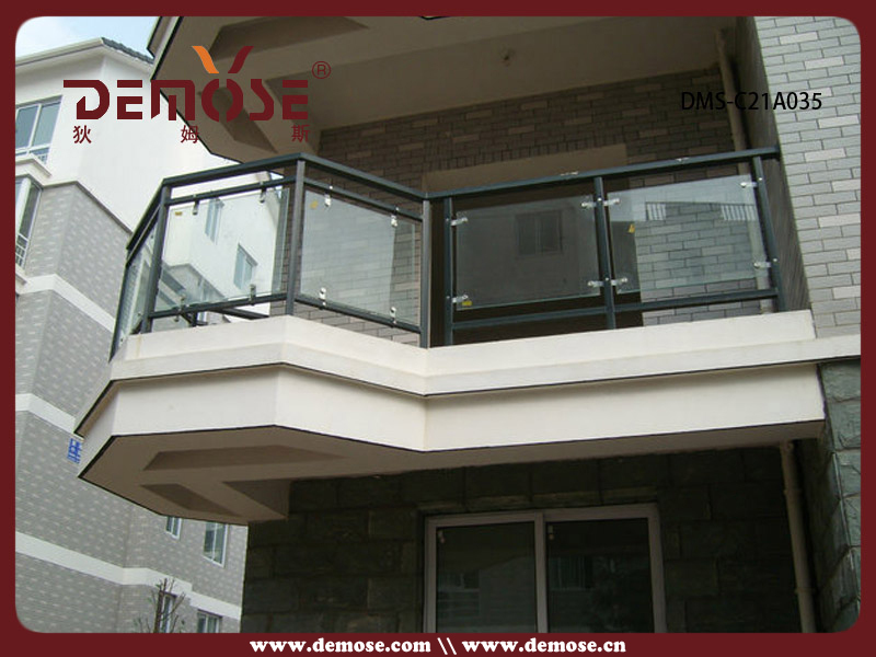Flower Glass Aluminum Railings For Balconies Prices