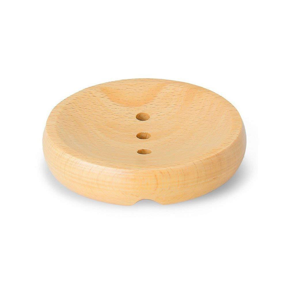 Soap Dish, Bathroom Beech wooden Soap Holder , Natural Wooden Soap box , The circular Wooden Soap Dish, Soap Tray for Shower , Bathroom sink
