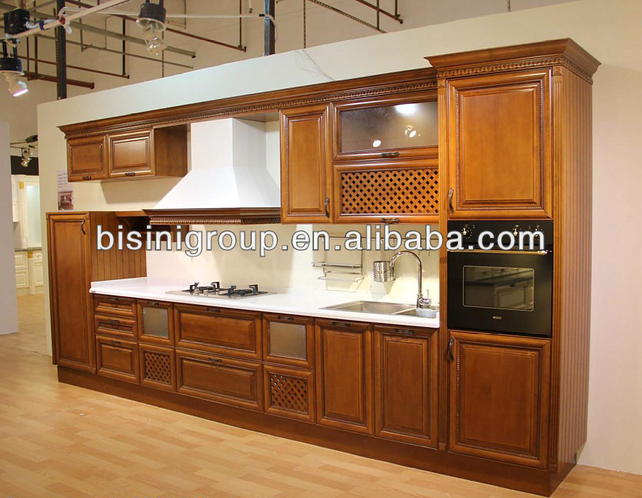 Antique Kitchen Cabinets Design,Wooden Kithchen Furniture with Appliance,Vintage Kithchen Cabinet(BF08-7022)