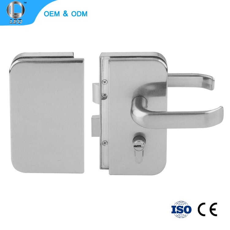 L-276 Inside Double Sliding Door Security Latch Glass Door Handle Key Lock Set