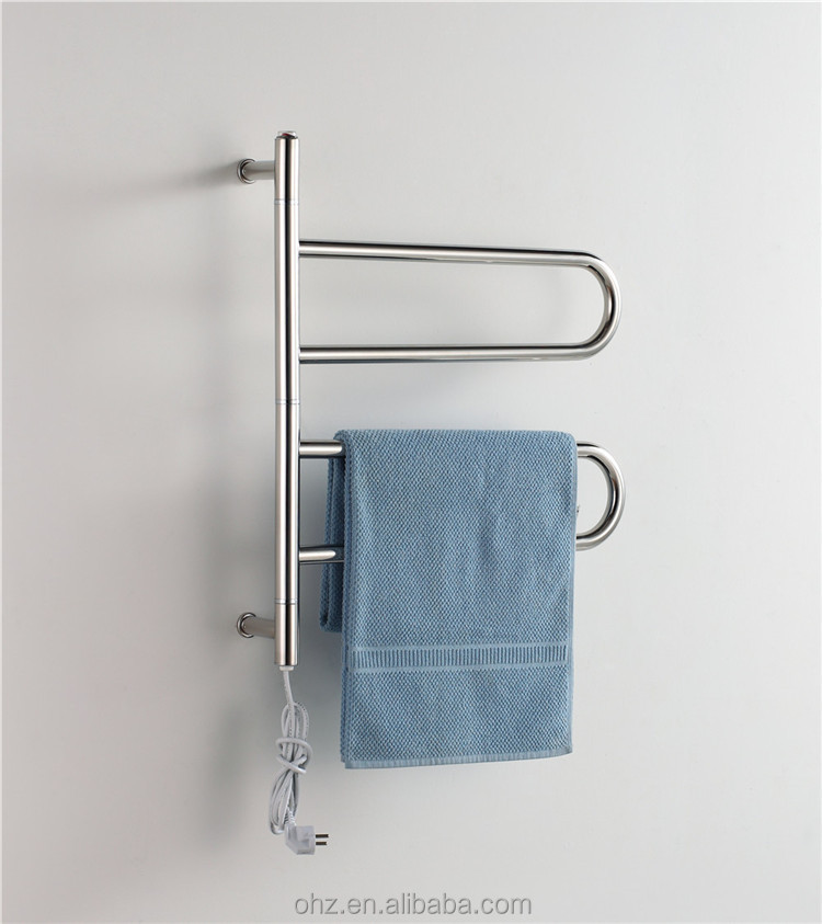 40W Power stainless steel electric heated drying towel warmer