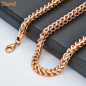 316 stainless steel Franco Link Chain thick Rose Gold Chian Jewelry