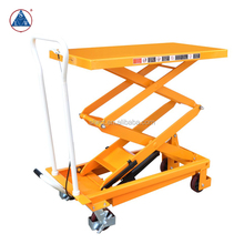 350kg Double Scissor Portable Hydraulic Manual Lift Table