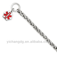 Free Engravable Hexagon Diabetes Symbol Bracelet for Wholesale