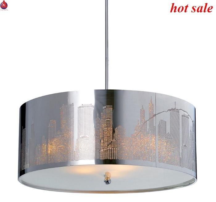 new york lampada a sospensione in acciaio inox paralume a laser tagliare con lucido all 39 interno. Black Bedroom Furniture Sets. Home Design Ideas