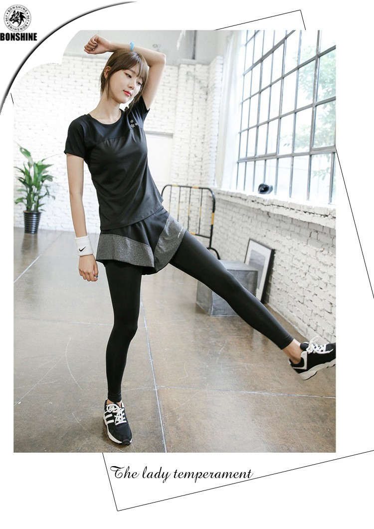 High quality women's yoga sports T-shirt running fitness quick-drying yoga clothes