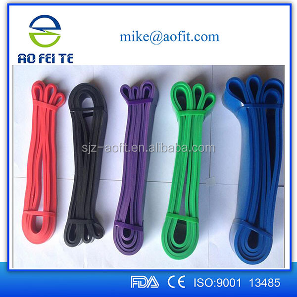 Wholesale factory price resistance exercise bands with logo custom