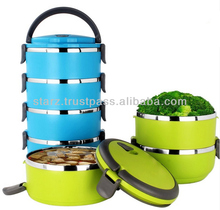 Stainless Steel Insulation Lunch Box With handle Food Containers