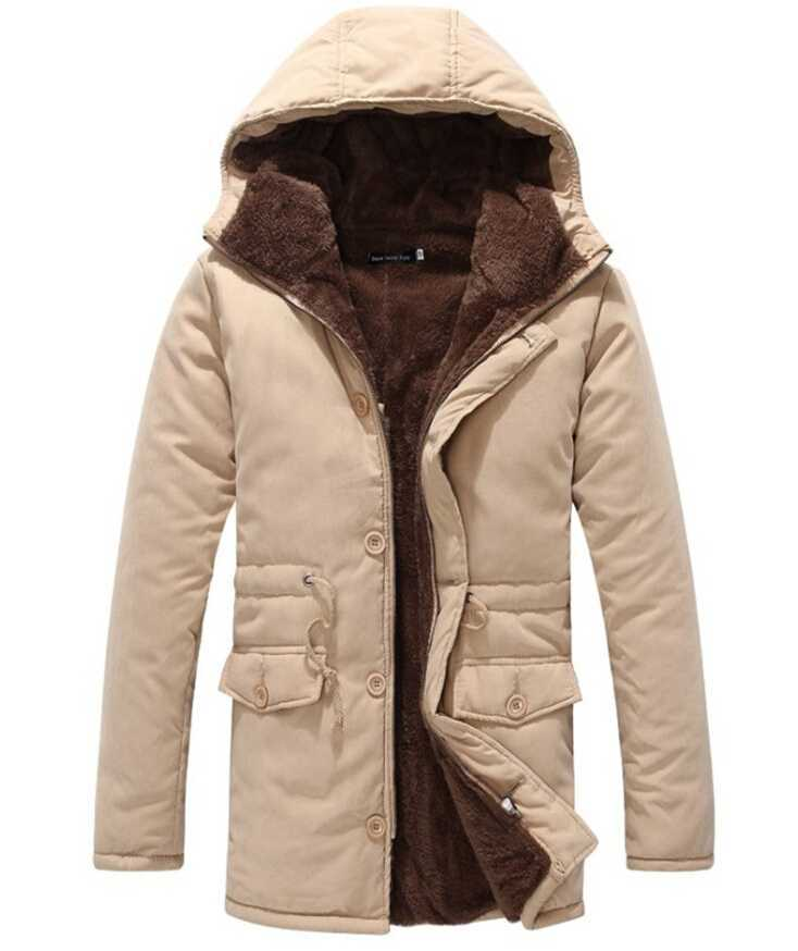 Buy Winter Casual Canada Mens Fur Collar Outwear Coats Military ...