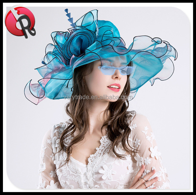 Women's Organza Church Kentucky Derby Fascinator Bridal Tea Party Wedding Hat