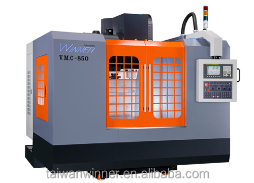 A1000-Hot Sale/3 axis linearway/Japan Controller/High Precision Processing Taiwan CNC Vertical Milling Machining Center Price