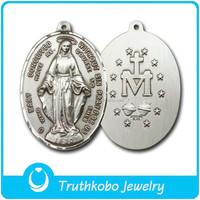 Christ Jewelry Design for Religious Pendant Stainless Steel Saint St Benedict Jesus Blessed European Style Cross Saint Pendant