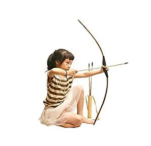 Sunnhill(TM )Toy Bow and Arrow with Steel Strings bamboo bow wood arrow paper target(27.5 inch)