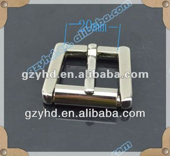 Fashion metal roller buckle for belts old silver finish