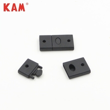 Custom eco-friendly plastic black rectangle strap bag clip safety buckle with press from both sides OEM ODM