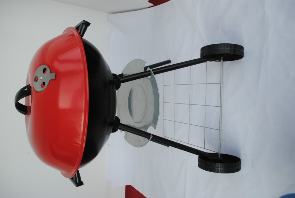 Wholesale large size apple shaped charcoal bbq grill trolley with ...