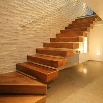 Genial DAIYA Floating Stairs Cost With OAK Solid Wood Tread And Glass Railing