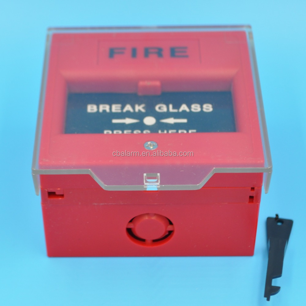 Break Glass Manual fire alarm push button