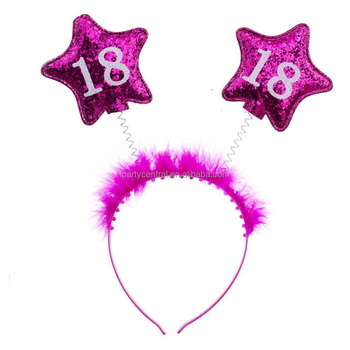 Birthday Party Decorations Pink Kit 18th Headband Hair Clips LP
