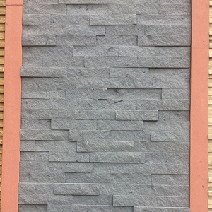 Decorative Cultural Stone Black Sandstone Wall Cladding Panels