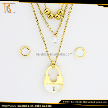 new style love locket gold custom jewelry earrings and necklace sets