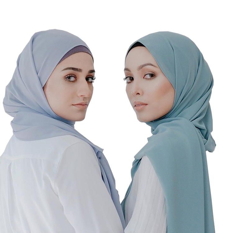 High quality crepe chiffon hijab <strong>scarf</strong> wraps soft long islam shawls muslim crinkle plain chiffon <strong>scarves</strong> hijabs