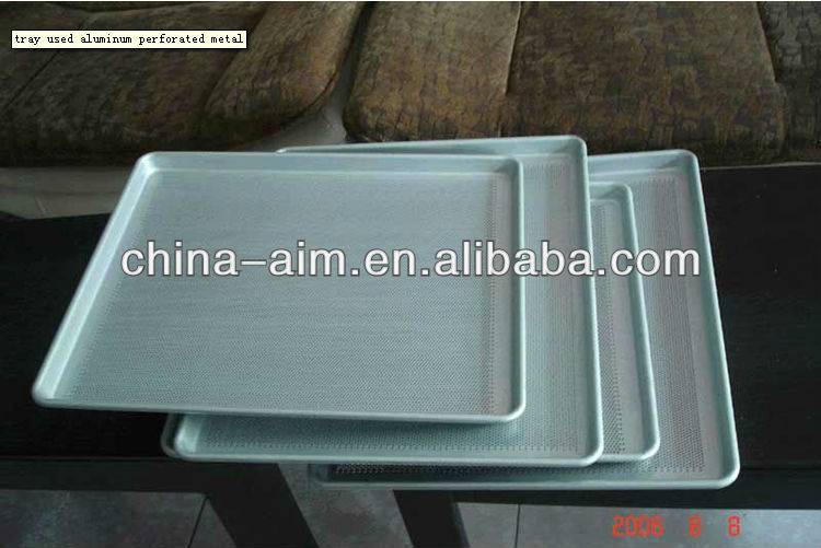 tray used aluminum perforated metal