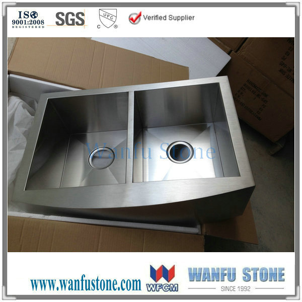 Attractive Stainless Steel Farmhouse Sink Inside 42 Optimum Beveled Apron  Kitchen Decor 0