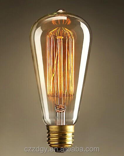 110v 220v 100w Light Bulbs Vintage Edison Carbon Filament Light ...