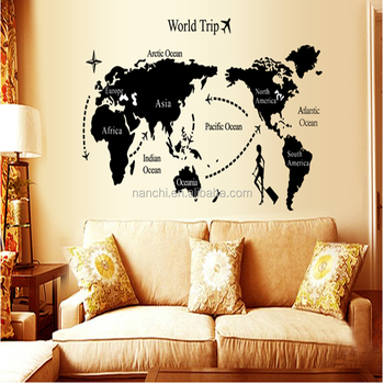 Hot travel around the world wall stickers world map decal large area hot travel around the world wall stickers world map decal large area wallpapers black wall quote gumiabroncs Choice Image