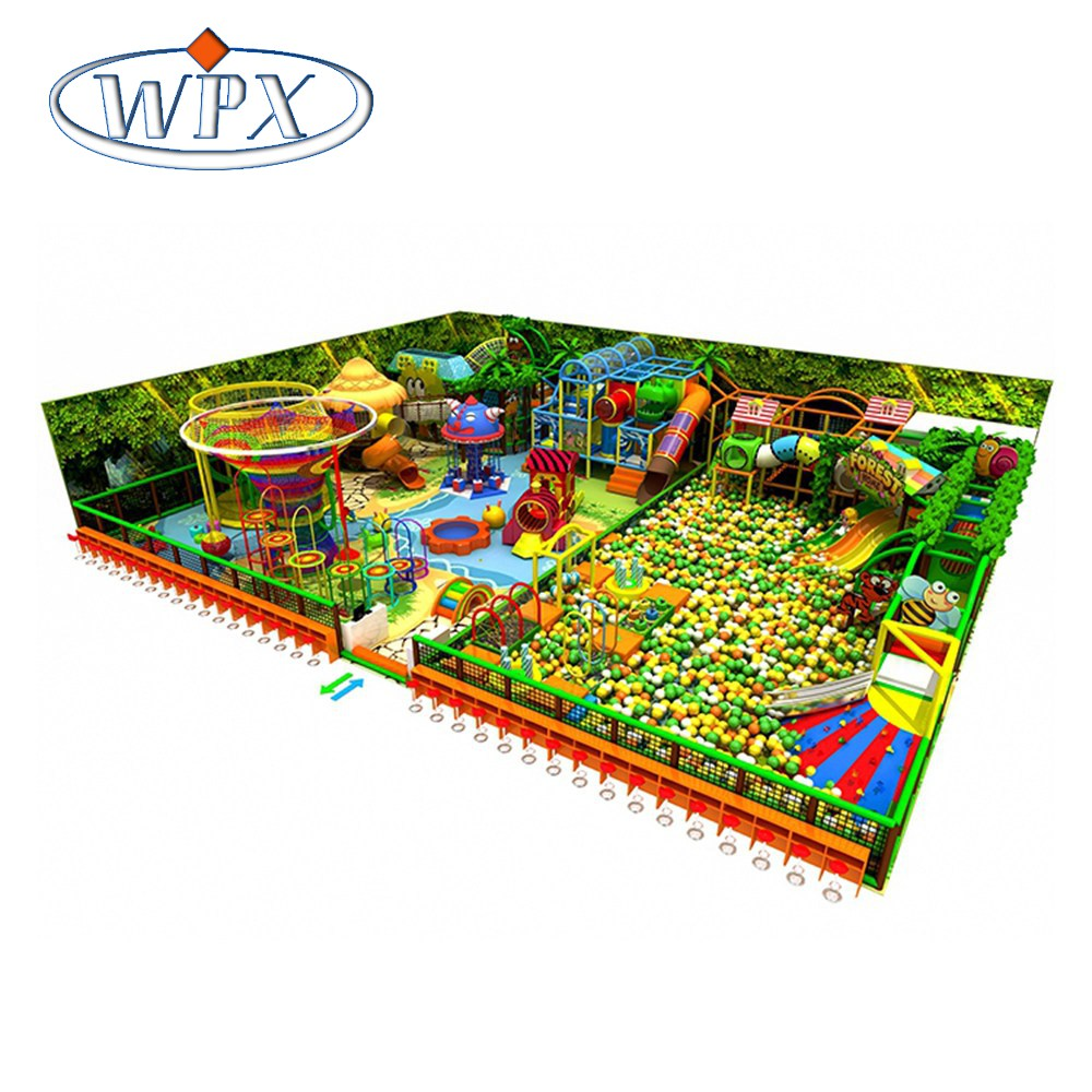 Durable colorful superior quality children commercial forest themed indoor playground