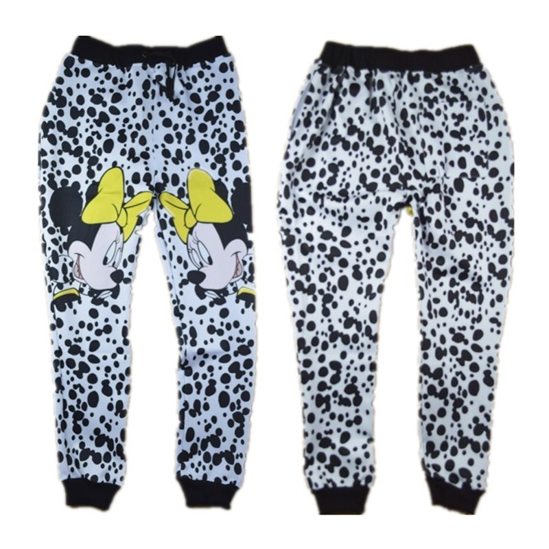 a9a94fc45a07 Get Quotations · Hot 2015 Winter/Autumn joggers New Men/Women Girl's Minnie  Mouse pants leopard funny