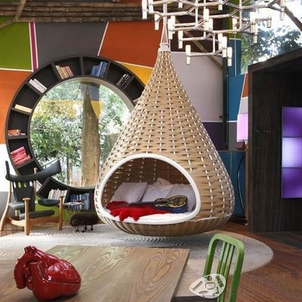 schaukel h ngesessel patio bett erwachsene rattan bambus nest outdoor gartenschaukel schwingen. Black Bedroom Furniture Sets. Home Design Ideas