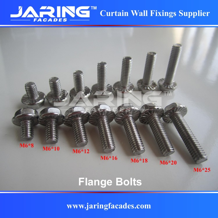 Stainless Steel 304 316 Hex Head Flange Bolts With Serration Din6921 M6 -  Buy Flange Bolt,Stainless Hex Head Flange Bolt,Din6921 Product on
